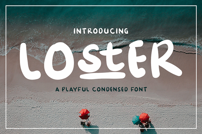 Loster Font poster
