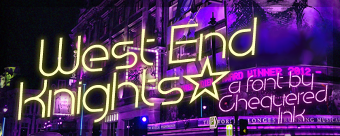 West End Knights Font poster
