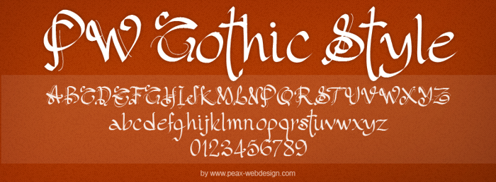 PW Gothic Style Font poster