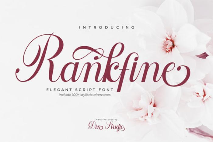 Rankfine Font poster