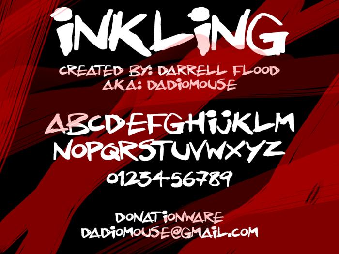 Inkling Font poster