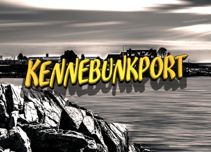 Kennebunkport Font poster