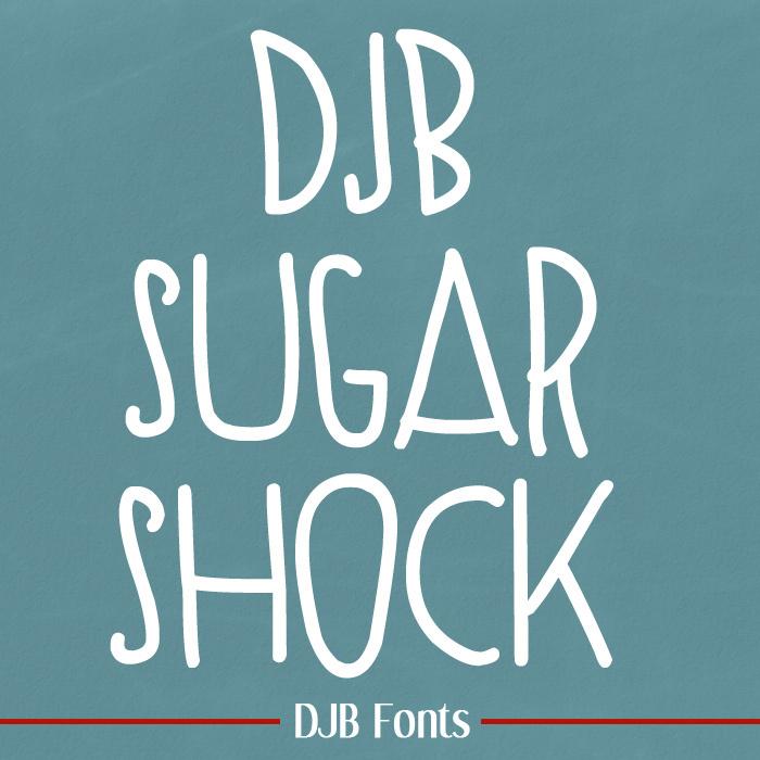 SUGAR SHOCK Font poster