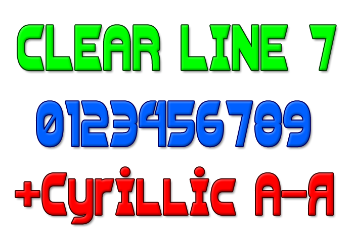 Clear Line 7 Font poster