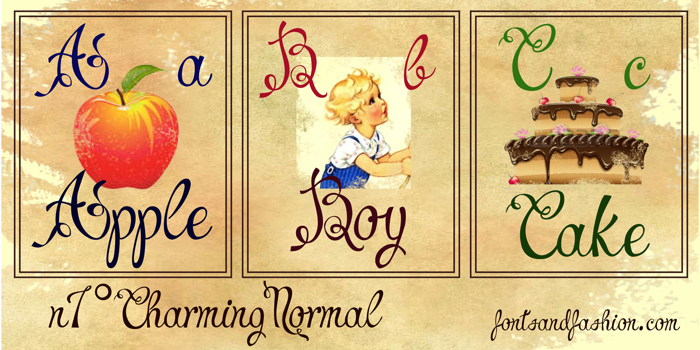 Charming Normal demo Font poster