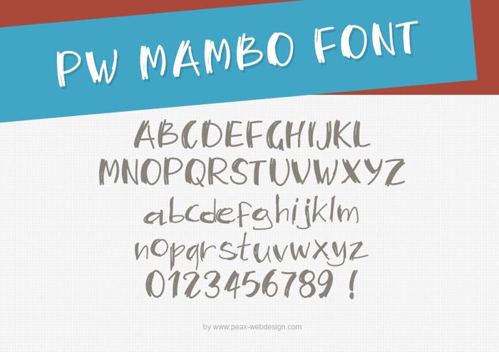 PWMambo Font poster
