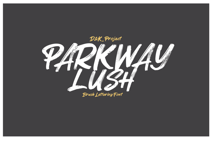 Parkway Lush Font poster