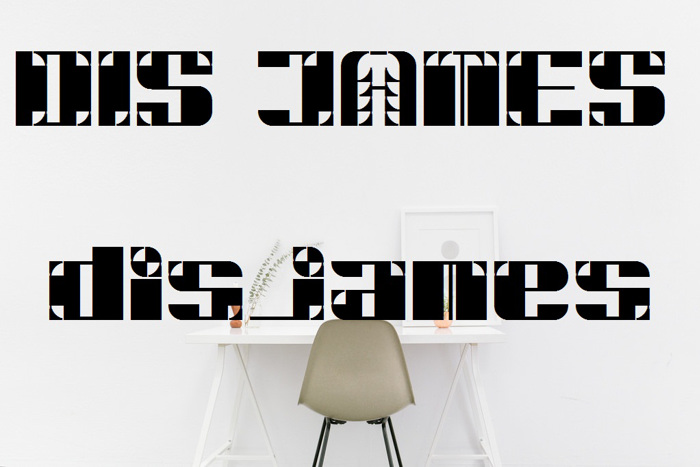 DiSJAMES Font poster