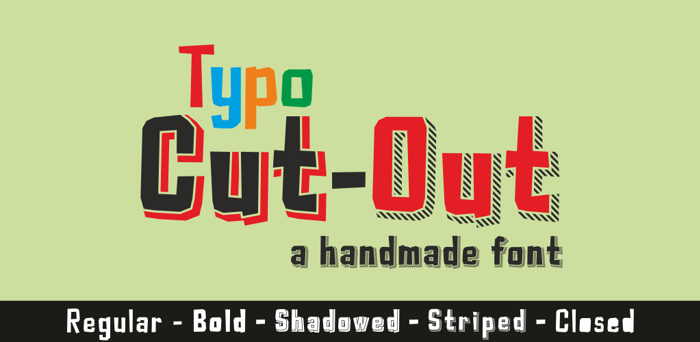 Typo Cut-Out Font poster