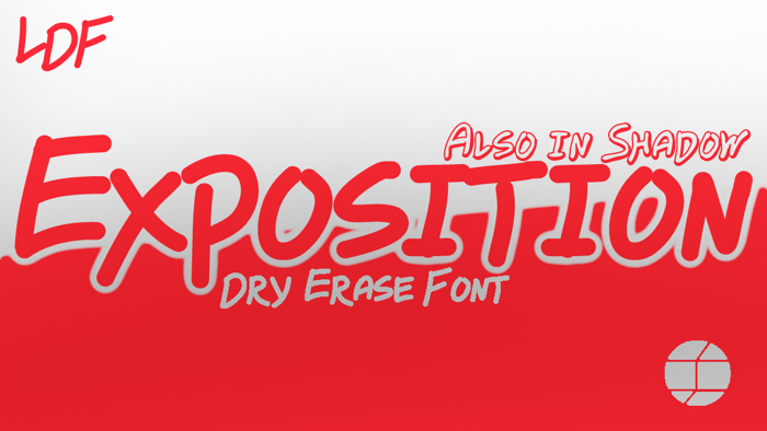 Exposition Font poster