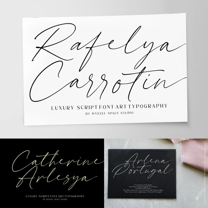 Rafelya Carrotin Font poster