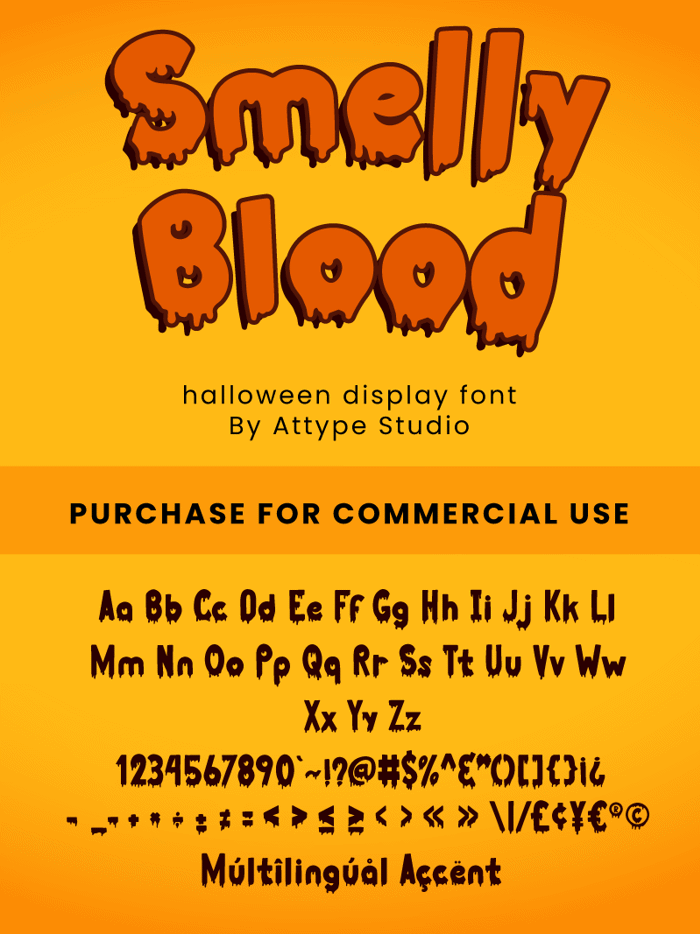 Smelly Blood Font poster