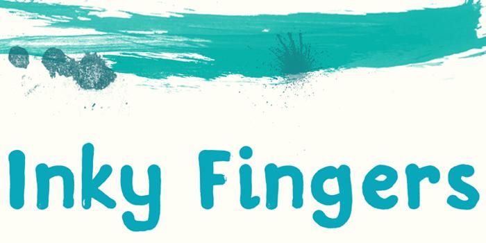DK Inky Fingers Font poster