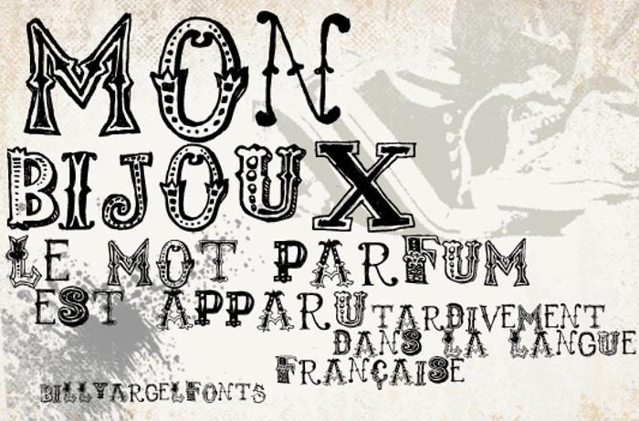 monbijoux Font poster