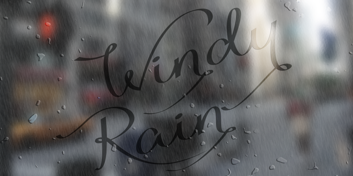 Windy Rain Demo Font poster