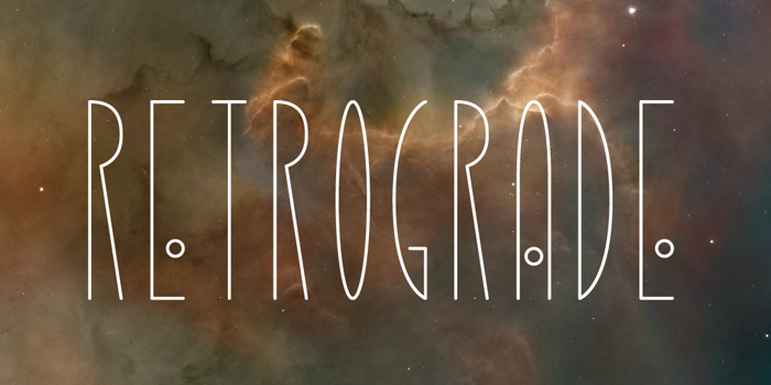 Retrograde Font poster