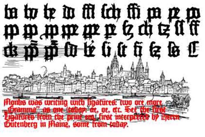 MonksWriting Font poster