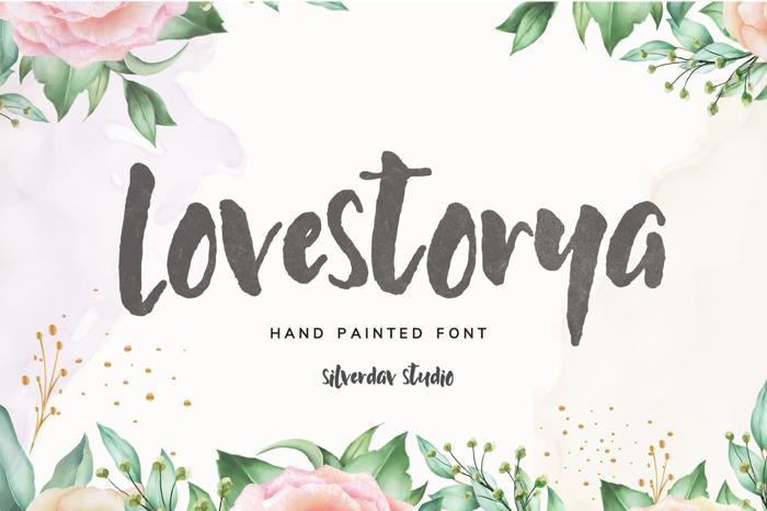 Lovestorya Font poster