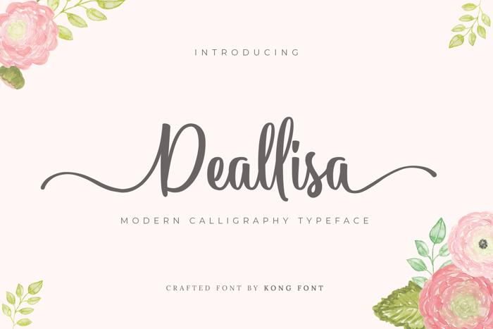 Deallisa Font poster