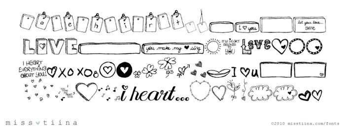 MTF i heart Sketches Font poster