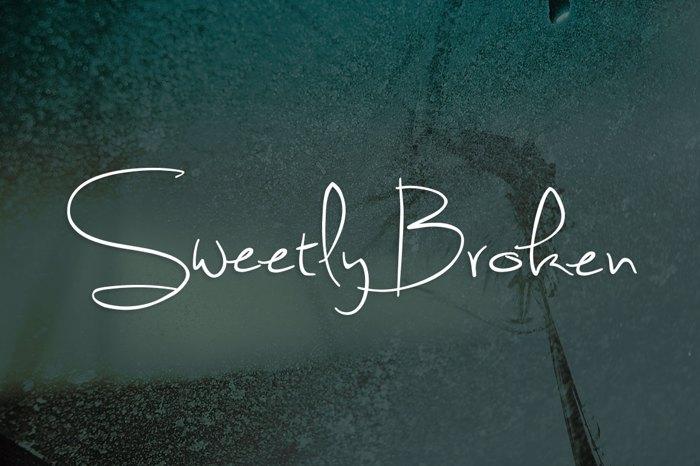 Sweetly Broken Font poster