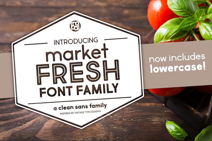 Market Fresh Font poster