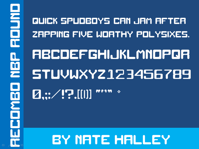Recombo NBP Round Font poster