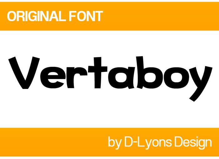 Vertaboy Font poster