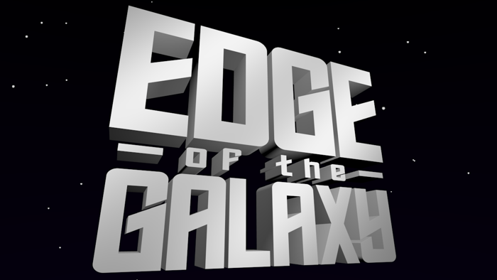 Edge of the Galaxy Font poster