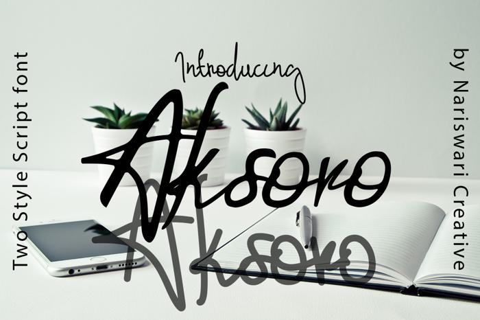 Aksoro Font poster