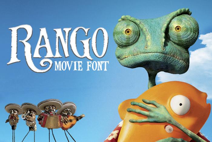 Rango Movie Font poster