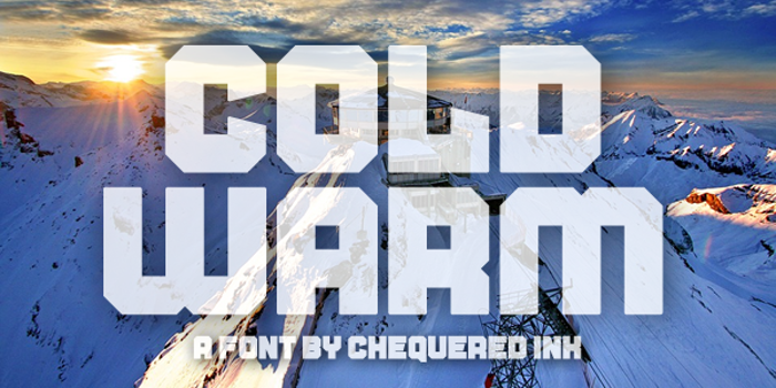Cold Warm Font poster