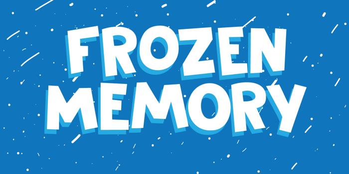 DK Frozen Memory Font poster