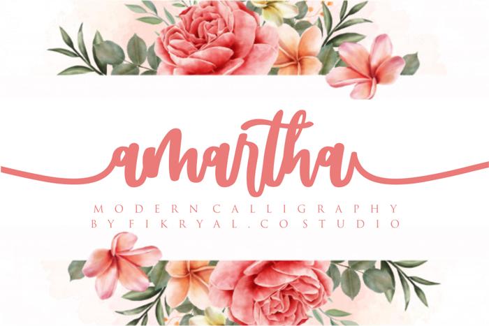 amartha Font poster