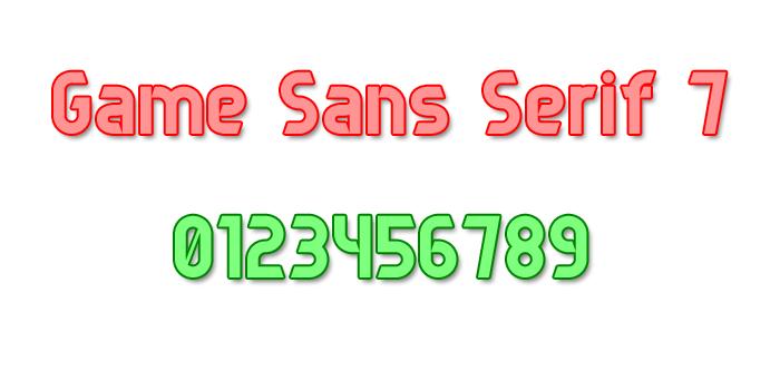Game Sans Serif 7 Font poster