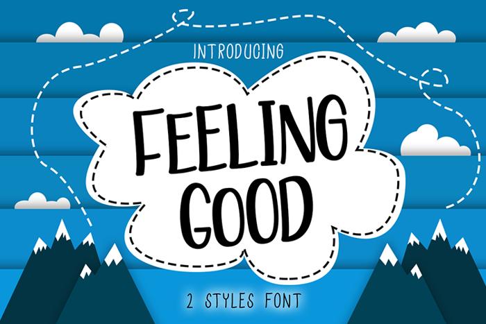 Feeling Good Font poster