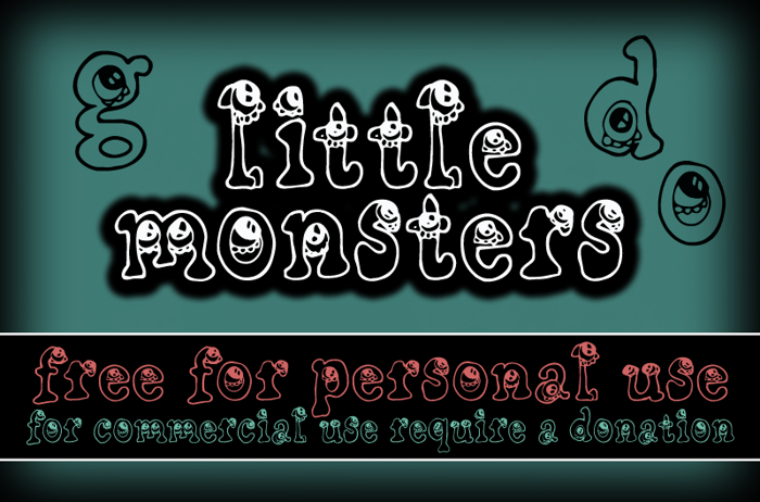 CF Little Monsters Font poster