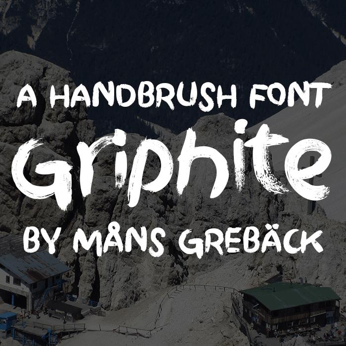 Griphite Font poster