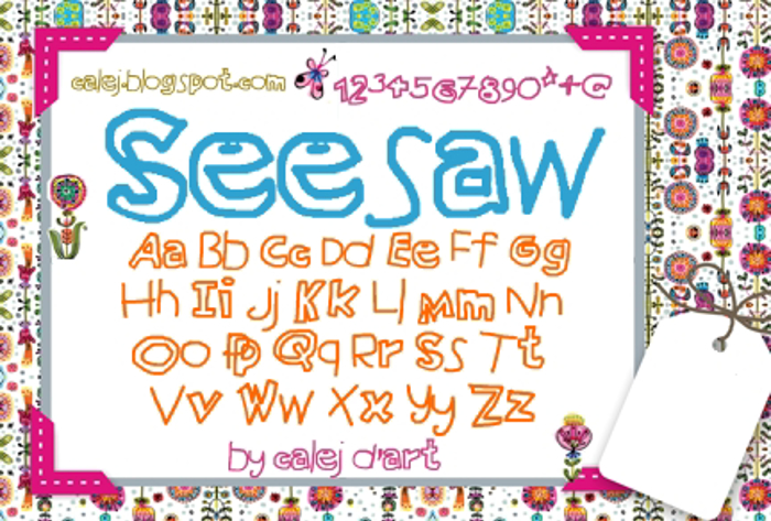 Seesaw Font poster