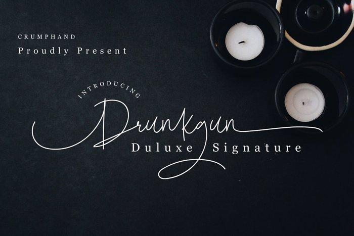 Drunkgun Font poster