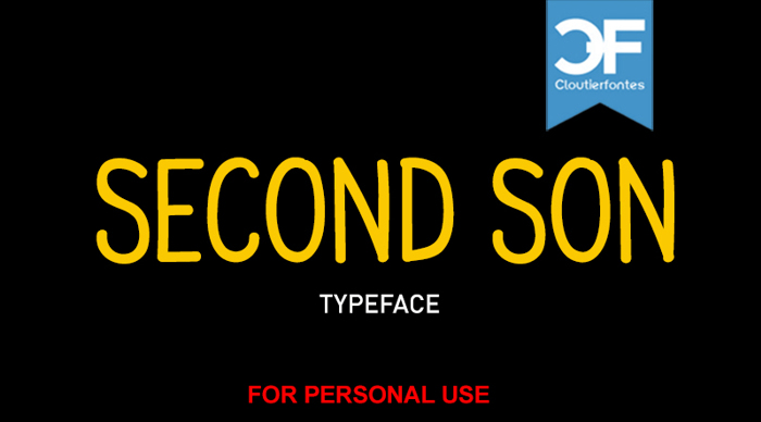 CF Second Son Font poster