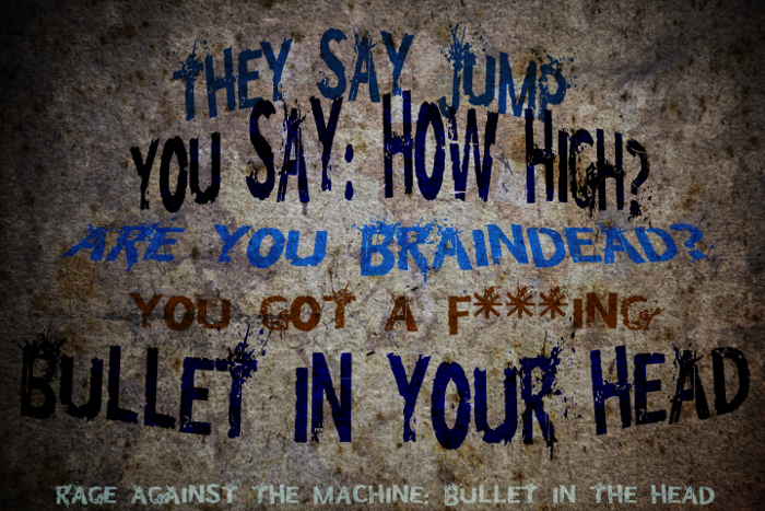 Bullet In Your Head Font poster