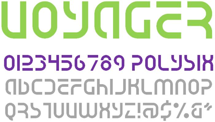Voyager NBP Font poster