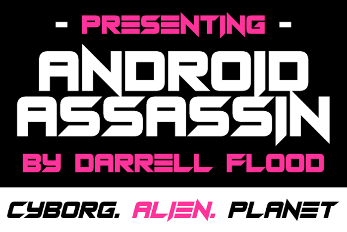 Android Assassin Font poster
