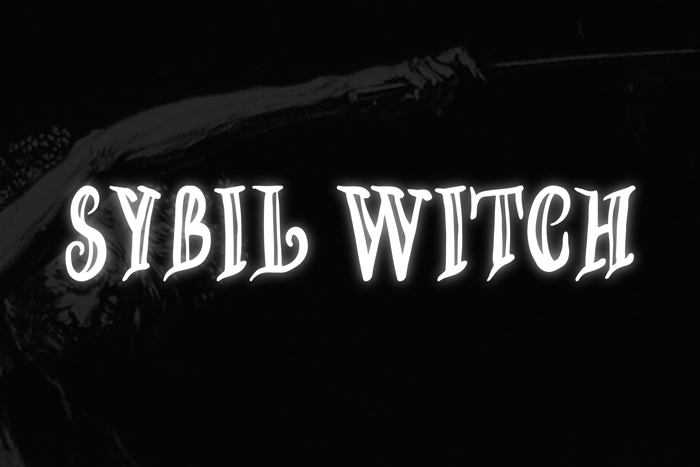 SYBIL WITCH Font poster
