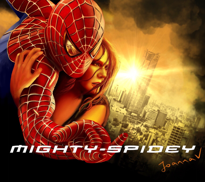 mightyspidey Font poster
