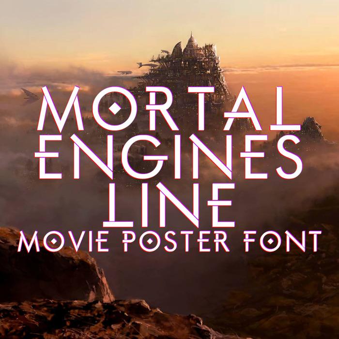 Mortal Engines Line Font poster