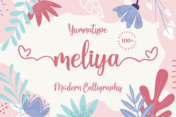 Meliya Font poster