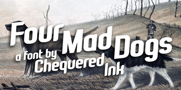 Four Mad Dogs Font poster