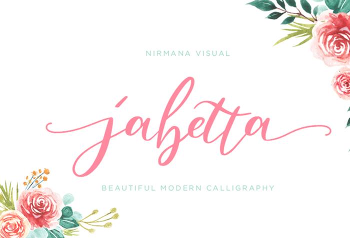 Jabetta Font poster